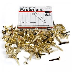 BRASS PAPER FASTENERS 3/4 100/BOX