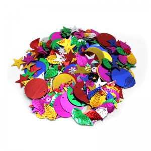 GLITTERING SEQUINS W SPANGLES 4OZ  RESEALABLE BAG