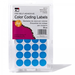COLOR CODING LABELS BLUE