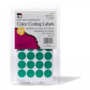 COLOR CODING LABELS GREEN