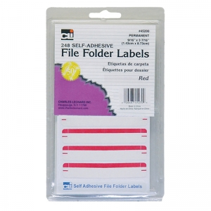 FILE FOLDER LABELS RED