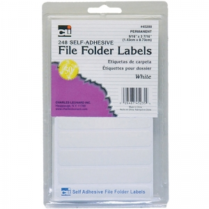 FILE FOLDER LABELS WHITE