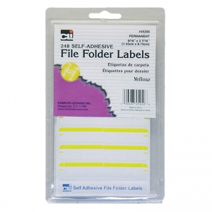 FILE FOLDER LABELS YELLOW