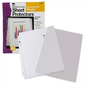 TOP LOADING SHT PROTECTORS REDUCED  GLARE 50/BOX
