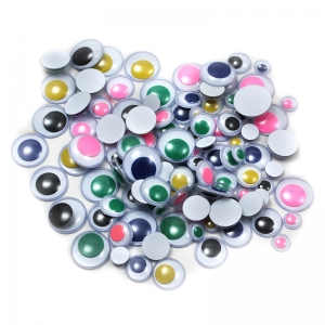 WIGGLE EYES ROUND ASST SIZES &  COLORS 100CT