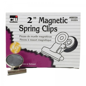 MAGNETIC SPRING CLIPS 12/BX 2 INCH