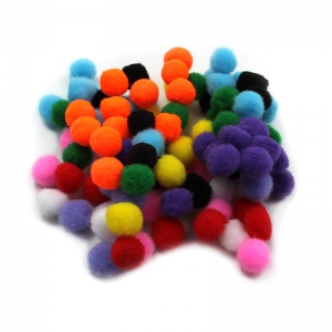 POM POMS .5IN ASST COLORS 100CT