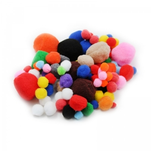 POM POMS ASST SIZES & COLORS 100CT