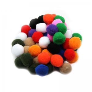 POM POMS 1IN ASST COLORS 50CT