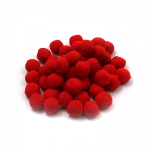POM POMS 1IN RED 50CT