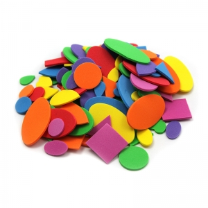 FOAM SHAPES ASST COLORS 264 PCS