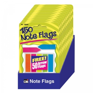 NOTE FLAGS PACK OF 30 IN 5 COLORS
