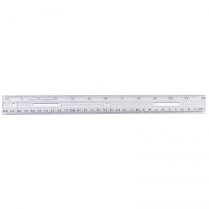 12IN PLASTIC RULER CLEAR