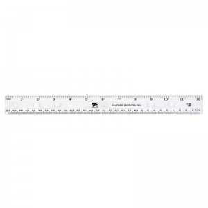 TRANSLUCENT 12IN PLASTIC RULER  CLEAR