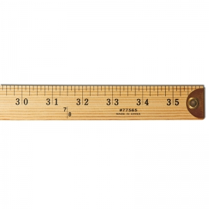 WOOD YARDSTICK