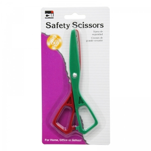 SCISSORS SAFETY PLASTIC 5 1/2IN  ASST COLORS