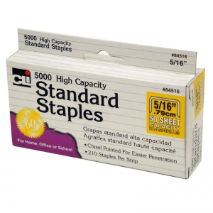 HIGH CAPACITY STANDARD STAPLES 5000  PER BOX