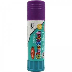 ECONOMY GLUE STICK .74OZ PURPLE