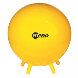 FITPRO BALL STABILITY LEGS YEL 65CM  GR 5 AND UP