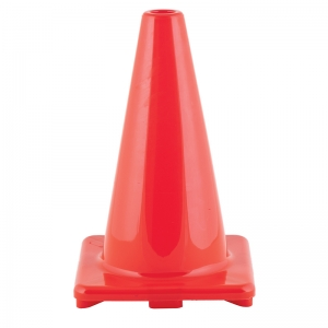 FLEXIBLE VINYL CONE 12IN ORANGE  WEIGHTED