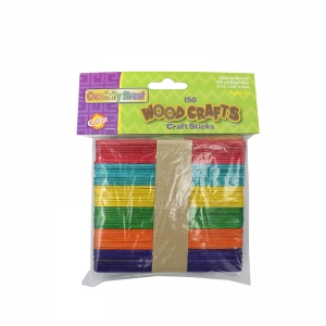 "Creativity Street Regular Craft Sticks, Bright Hues Assorted, 4.5"" x 3/8"", 150 Pieces"