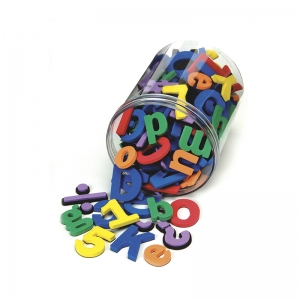 WonderFoam Magnetic Letters, Numbers and Symbols, Assorted Colors, Assorted Sizes, 130 Pieces