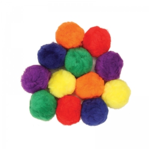 Creativity Street Pom Pons, Assorted Colors, 70mm, 12 Pieces