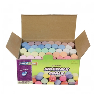 "Creativity Street Sidewalk Chalk, Assorted Colors, 4"", 37 Pieces"