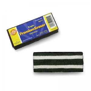 "Pacon Chalk and Whiteboard Eraser, Premium, 6 Black & White Felt Strips, Double-Stitched, Reinforced Backing, 5"", 1 Eraser"