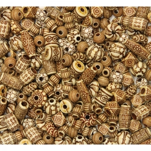 Shaped Beads, Mixed Bone Bead Assortment, Assorted Sizes, 8 oz.