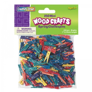 MINI SPRING CLOTHESPINS BRIGHT HUES