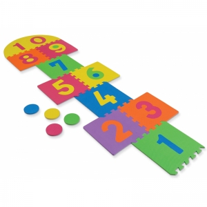WONDERFOAM HOP SCOTCH MAT 25 PCS  12-1/2 X 12-1/2