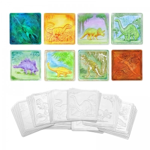 "Creativity Street Embossed Paper, Dinosaur Collection, 6"" x 6"", 24 Sheets"