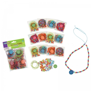 100 Days of School Bead Kits, Assorted Sizes, 12 Kits