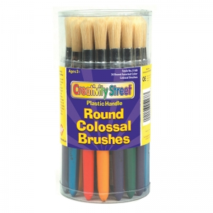 COLOSSAL ROUND PLASTIC HANDLE BRUSH  ASSORTMENT-MULTI
