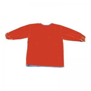 LONG SLEEVE ARTIST SMOCK RED