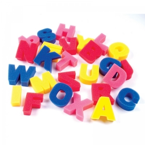 "Creativity Street Paint Sponges, Letters Set, 3"", 26 Pieces"