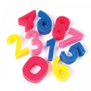 "Creativity Street Paint Sponges, Numbers Set, 3"", 10 Pieces"