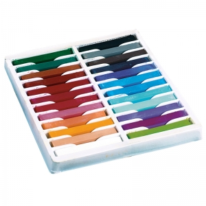 QUALITY ARTISTS SQUARE PASTELS 24  ASSORTED PASTELS
