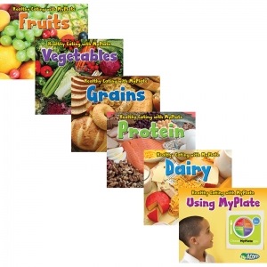 HEALTHY EATING WITH MYPLATE BOOK  SET OF 6
