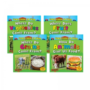 From Farm to Fork: Where Does My Food Come From? Book Set, Set of 4