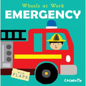 Wheels at Work Board Book, Emergency, Packof 3