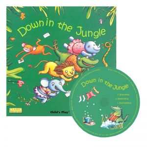 (3 ST) DOWN IN THE JUNGLE CLASSIC BOOKS WITH HOLES PLUS CD
