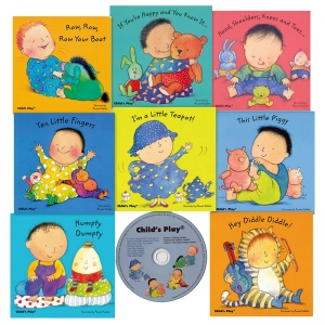 NURSERY RHYME BOARD 8 BK SET W/ CD