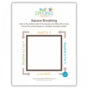 "Square Deep Breathing Poster, 11"" x 17"""