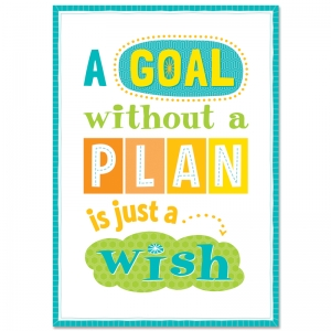 A GOAL WITHOUT A PLAN INSPIRE U  POSTER
