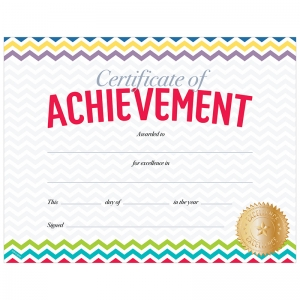 CHEVRON CERTIFICATE OF ACHIEVEMENT