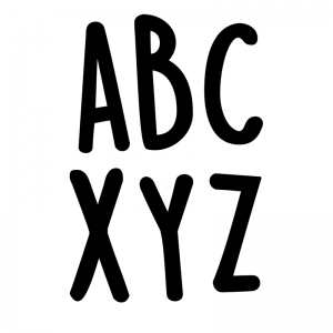 "Casual Black 2"" Uppercase Letter Stickers, Pack of 109"