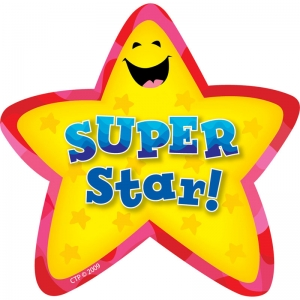 Super Star! Star Badges, 36/pkg
