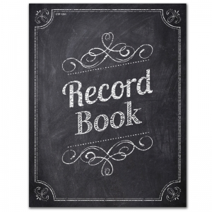 CHALK IT UP RECORD BOOK